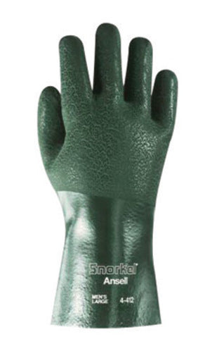 Ansell Size 9 Green Snorkel® Jersey/Knit Lined 15 mil PVC Chemical Resistant Gloves