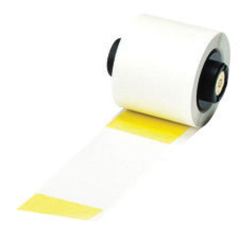 "Brady® 4"" X 1 1/2"" Yellow BMP®61 BMP®71 TLS 2200® TLS-PC Link Vinyl Label"