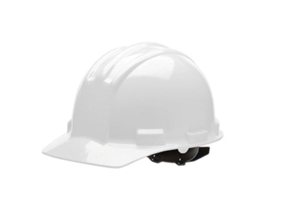 Bullard White HDPE Hard Hat With 4 Point Pinlock Suspension