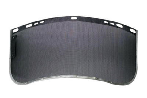 "Bullard® 8"" X 15"" X 24"" Black Metal Mesh Faceshield Screen"