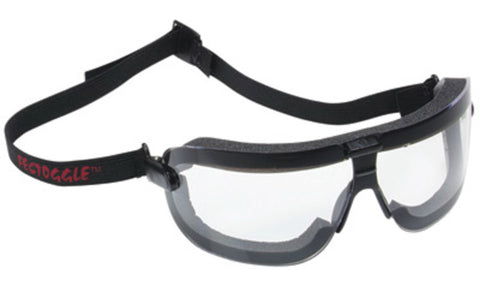 3M Fectoggles Medium Impact Dust Goggles With Black Foam Lined Frame, Clear DX Anti-Fog Hard Coat Lens And Elastic Strap