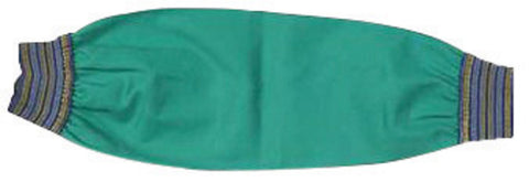 "SLEEVE SAFETY 23"" 9OZ FLAME RESISTANT COTTON GREEN WITH 2.25"" BLUE -GOLD ELASTIC BOTH ENDS"