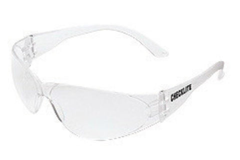 Crews® Checklite® Safety Glasses With Clear Polycarbonate Frame And Clear Polycarbonate Duramass® Anti-Fog And Anti-Scratch Lens