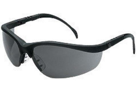 MCR Safety® Klondike® Matte Black Safety Glasses With Gray Anti-Scratch Lens And Extendable Spatula Temples