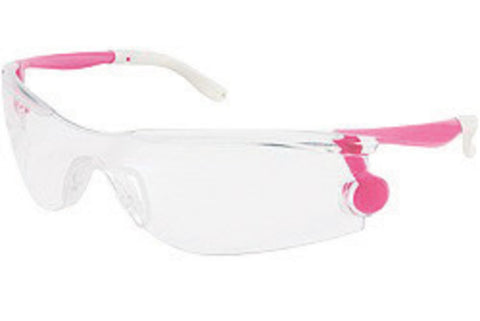 Crews® Mantis Regular Safety Glasses With Pink Plastic Frame