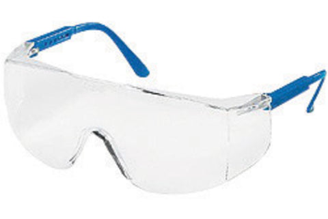 Crews® Tacoma® Safety Glasses With Blue Nylon Frame And Clear Polycarbonate Anti-Scratch Lens