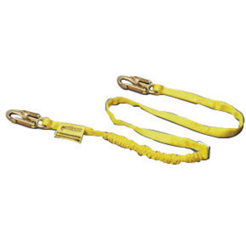 Miller by Honeywell Web Shock-Absorbing 6' Lanyard, Yellow