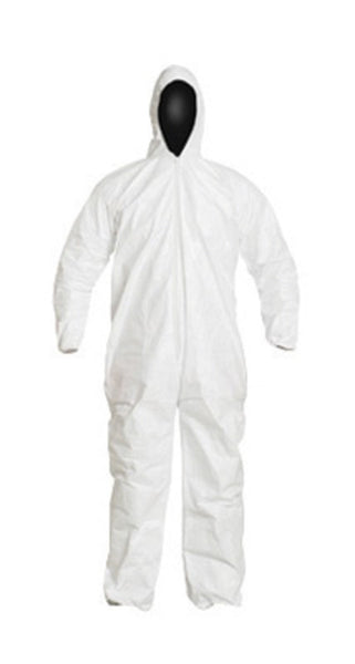 DuPont Large White IsoClean Tyvek Isoclean Disposable Coveralls