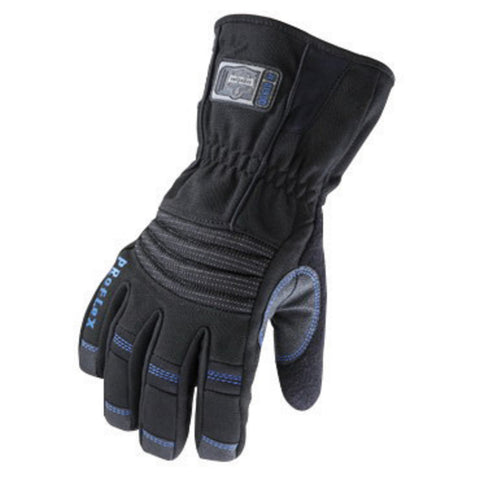 Ergodyne Large Black ProFlex® 819WP Nylon Hipora® And Thinsulate Lined Thermal Waterproof Cold Weather Gloves With Terry Thumb