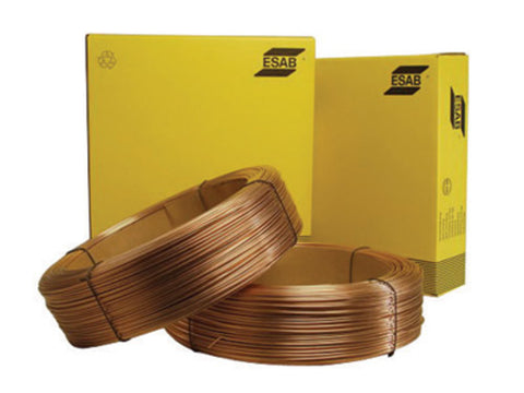 ".052"" ER70S-6 ESAB® Spoolarc® 86 Copper Coated Carbon Steel MIG Welding Wire 60# 15'' Spool"