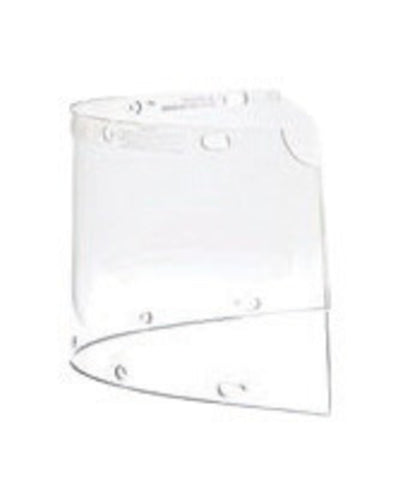 "Fibre-Metal® by Honeywell High Performance® Model 6750 8"" X 16 1/2"" X .06"" Clear Injection Molded Propionate Wide View Faceshield For Use With FM400 And FM500 Dual Crown High Performance® Faceshield System"