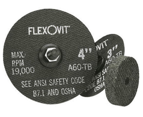 "FlexOVit 3"" X 1/16"" X 1/4"" A46T Aluminum Oxide HIGH PERFORMANCE Reinforced Type 1 Cut Off Wheel For Use With Die and Straight Grinder On Metal"