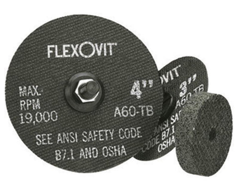"FlexOVit 3"" X 1/8"" X 3/8"" A36R Aluminum Oxide HIGH PERFORMANCE Reinforced Type 1 Cut Off Wheel For Use With Die and Straight Grinder On Metal"