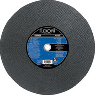 "FlexOVit 16"" X 5/32"" X 1"" A30SB Aluminum Oxide HIGH PERFORMANCE Reinforced Type 1 Cut Off Wheel For Use With Stationary Saw On Metal And Stainless Steel"