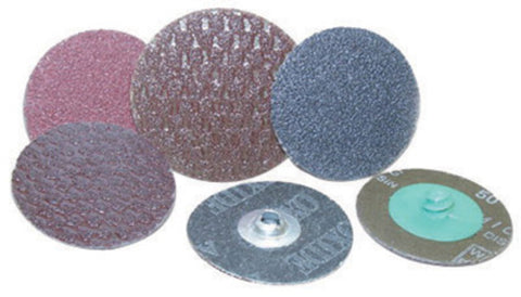 "FlexOVit® 3"" A36 Grit Aluminum Oxide Spin-On Quick Change Resin Bond Sanding Disc"