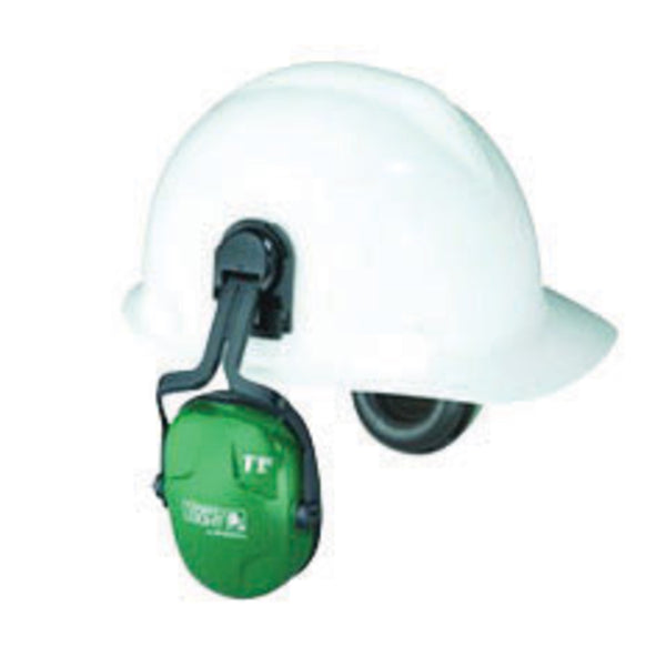 Honeywell Howard Leight Thunder T1H Light Green Helmet Mount Earmuffs