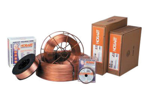 ".024"" ER70S-6 Hobart® HB-28 Copper Coated Carbon Steel MIG Welding Wire 33# 12'' Spool"