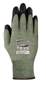 Ansell Size 7 PowerFlex® 80-813 13 Gauge Medium Duty Special Purpose Cut And Flame Resistant Foam Palm Coated Work Gloves With DuPont Kevlar® Liner And Knit Wrist
