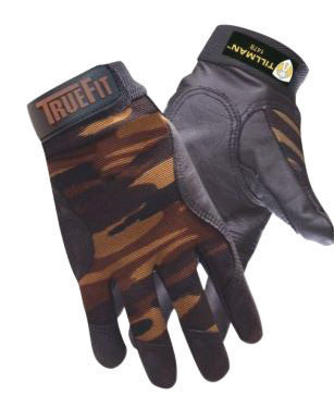 Tillman Small Camouflage TrueFit Full Finger Top Grain Cowhide And Spandex® Premium Mechanics Gloves With Elastic Cuff