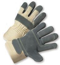 Radnor X-Large Double Leather Palm Gloves With Canvas Back And Safety Cuff