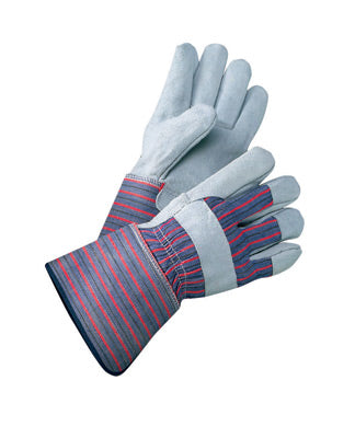 Radnor X-Large Shoulder Split Leather Palm Gloves With Canvas Back And Gauntlet Cuff