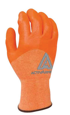 Ansell Size 10 Hi-Viz Orange ActivArmr® Neoprene And Nitrile Cut Resistant Gloves With Knit Wrist, Spandex, Polyester, Nylon And Kevlar® Lined And Neoprene And Nitrile Coating