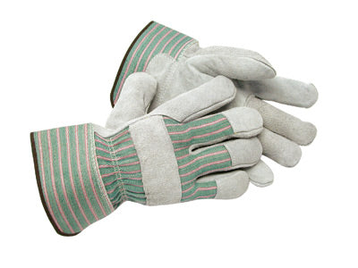 Radnor Small Shoulder Split Leather Palm Gloves With Canvas Back And Safety Cuff