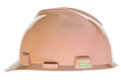 MSA Tan Polyethylene Cap Style Hard Hat With 4 Point Pinlock Suspension