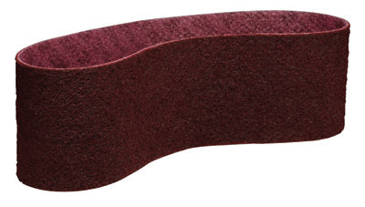 "3M 3"" X 79"" Medium Grade Aluminum Oxide Scotch-Brite Maroon Non-Woven Surface Conditioning Belt"