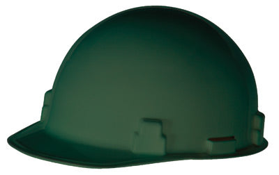 Radnor® Green SmoothDome Polyethylene Cap Style Hard Hat With Ratchet Suspension
