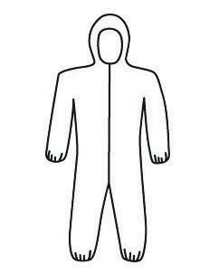 PIP® X-Large White SSMS Polypropylene Disposable Coveralls