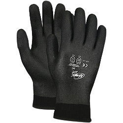Memphis Glove Med Black Ninja® ICE FC 7 Ga Acrylic Terry Lined GP Cold Weather Gloves W/Knit Wrist, 15 Ga Nylon Shell & HPT Foam Sponge Fully Coated