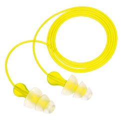 3M Tri-Flange P3000 Multi-Flange Elastomeric Polymer Reusable Corded Earplugs