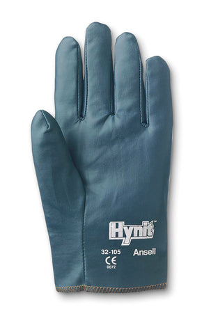 Ansell Size 9 Hynit® Medium Weight Nitrile Work Gloves With Blue Cotton Interlock Knit Liner And Slip-On Cuff