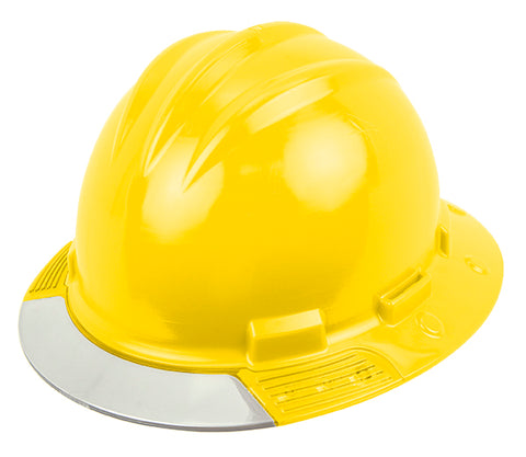 Bullard® Yellow AboveView HDPE Full Brim Hard Hat With Flex-Gear® 4 Point Ratchet Suspension