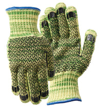 Wells Lamont Medium Whizard®/METALGUARD® 7 Gauge Kevlar® And Stainless Steel Cut Resistant Gloves With PVC Dot Coated Both Sides