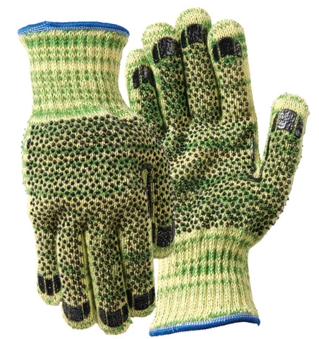 Wells Lamont Small Whizard®/METALGUARD® 7 Gauge Kevlar® And Stainless Steel Cut Resistant Gloves With PVC Dot Coated Both Sides