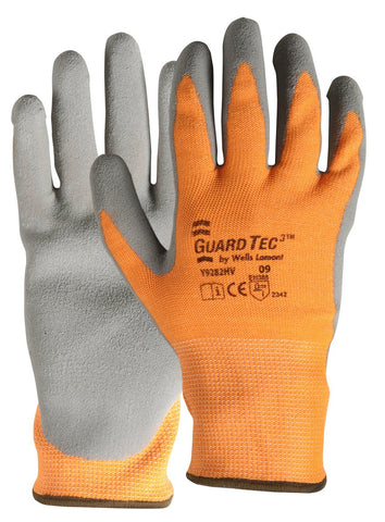 Wells Lamont Large GuardTec 3® 13 Gauge Fiber Cut Resistant Gloves With Foam Latex Coated Palm And Fingertips