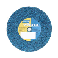 "Norton® 3"" X 1/2"" X 1/4"" 100 - 150 Grit Medium Grade Aluminum Oxide Aggregate Bear-Tex® Vortex Rapid Blend Blue Arbor Hole Unified Wheel"