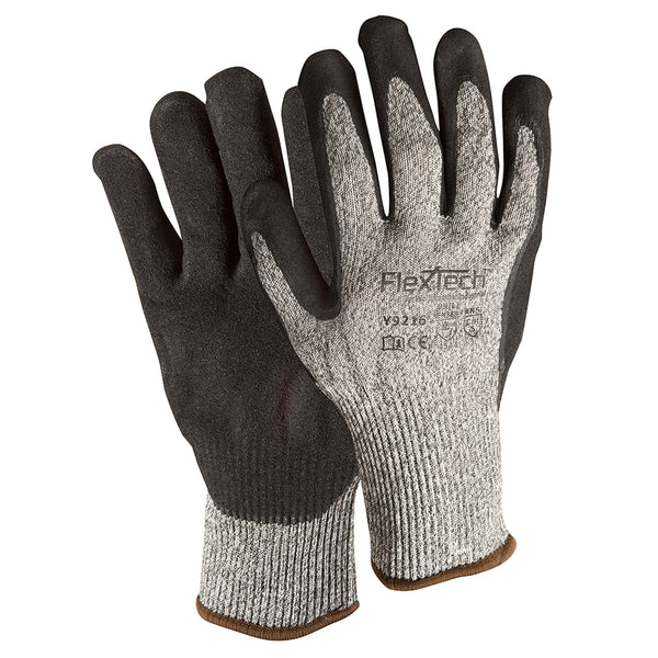 Wells Lamont Large FlexTech 13 Gauge Fiber And Stainless Steel Cut Resistant Gloves With Nitrile Coated Palm And Fingertips