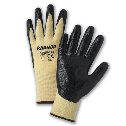 Radnor® Small 13 Gauge Dupont Kevlar® And LYCRA® Cut Resistant Gloves With Nitrile Coating