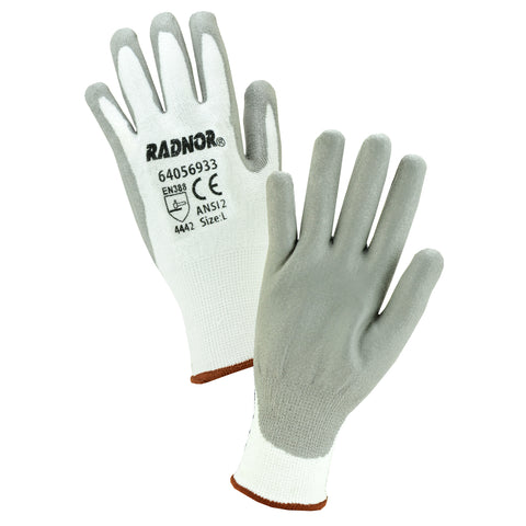 Radnor® Small 13 Gauge HPPE Cut Resistant Gloves With Polyurethane Coating