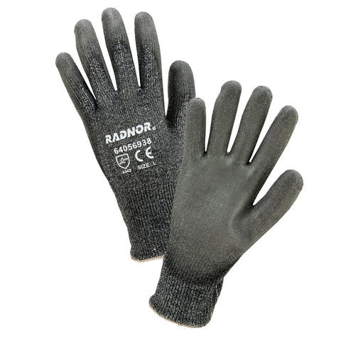 Radnor® 2X 13 Gauge Glass, HPPE And Nylon Cut Resistant Gloves With Polyurethane Coating