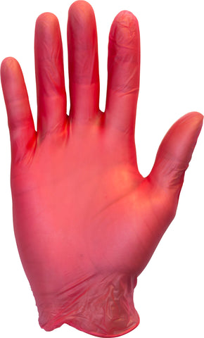 Seidman & Associate Medium Red Safety Zone® 3 mil Latex-Free Vinyl Powder-Free Disposable Gloves (100 Gloves Per Box)