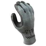 SHOWA® Size 8 ATLAS® 10 Gauge Black Natural Rubber Work Gloves With Cotton/Polyester Liner And Knit Wrist