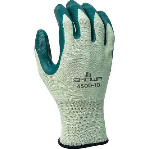 SHOWA® Size 10 Green Nitrile Work Gloves With Nylon Knit Liner And Knit Wrist