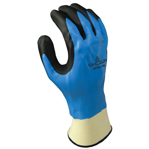 SHOWA® Size 7 Black, Blue And White Foam Nitrile Acrylic/Polyester/Nylon Lined Cold Weather Gloves