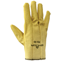 SHOWA® Size 8 ATLAS® 13 Gauge White Nitrile Work Gloves With Nylon Knit Liner And Knit Wrist