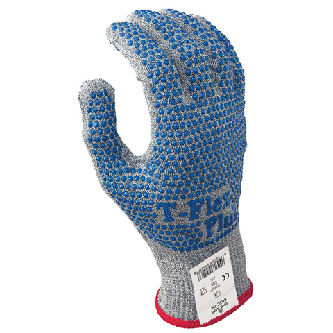 SHOWA® Size 8 8113C® 13 Gauge HPPE And Thermax® And AlphaSans® Cut Resistant Gloves With PVC Dots Coating