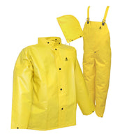 Tingley 4X Yellow  DuraScrim 10.5 mil PVC And Polyester 3-Piece Rain Suit With Front Snap